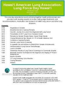 Hawaii American Lung Association Lung Force Day Hawaii
