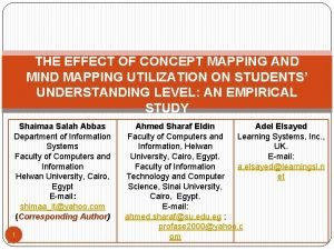 THE EFFECT OF CONCEPT MAPPING AND MIND MAPPING