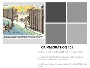 CRIMMIGRATION 101 Rachel M Self Esq of Rachel
