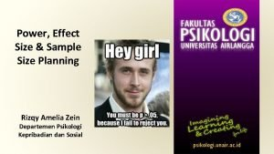 Power Effect Size Sample Size Planning Rizqy Amelia