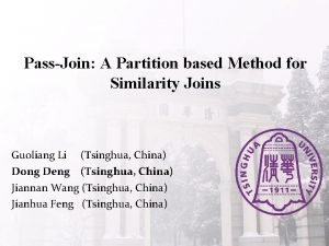 PassJoin A Partition based Method for Similarity Joins