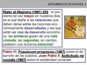 DESARROLLOECOLOGIA 1 Mater et Magistra 1961 222 222