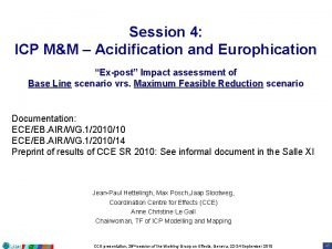 Session 4 ICP MM Acidification and Europhication Expost