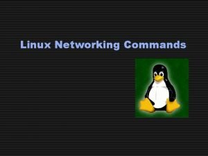 Linux Networking Commands Commands Reviewed Ifconfig dmesg netstat