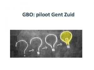 GBO piloot Gent Zuid Kadering GBO Gent 2