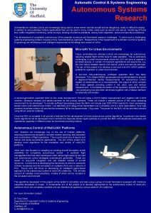 Automatic Control Systems Engineering Autonomous Systems Research Uninhabited