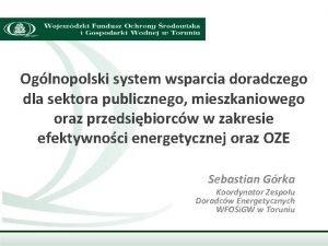 Oglnopolski system wsparcia doradczego dla sektora publicznego mieszkaniowego