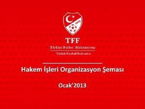 Hakem leri Organizasyon emas Ocak 2013 Organizasyon emas