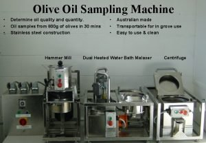 Olive Oil Sampling Machine Determine oil quality and