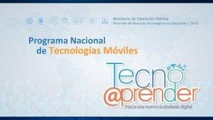 Programa Nacional de Tecnologas Mviles Hacia una nueva