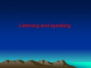 Listening and speaking Boys and girls Lets watch