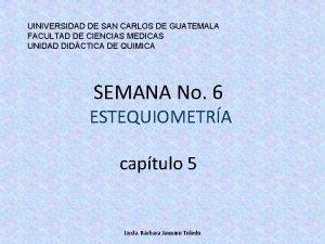 UINIVERSIDAD DE SAN CARLOS DE GUATEMALA FACULTAD DE