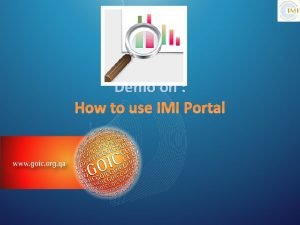 Demo on How to use IMI Portal Subscribe