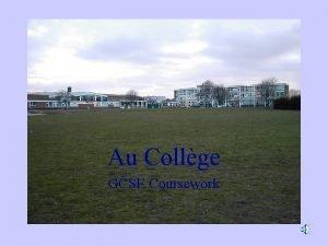 Au Collge GCSE Coursework clubs sports la classe