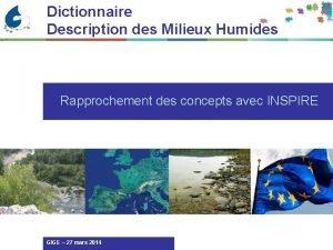 Dictionnaire Description des Milieux Humides Rapprochement des concepts