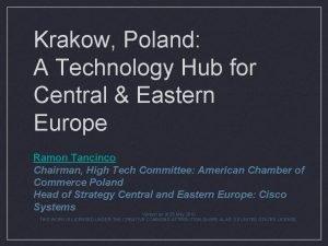 Krakow Poland A Technology Hub for Central Eastern