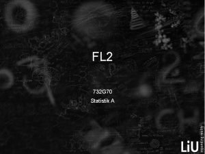 FL 2 732 G 70 Statistik A Mngdlra