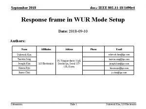 September 2018 doc IEEE 802 11 181490 r