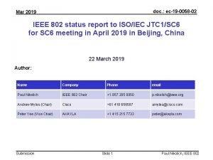doc ec19 0058 02 Mar 2019 IEEE 802