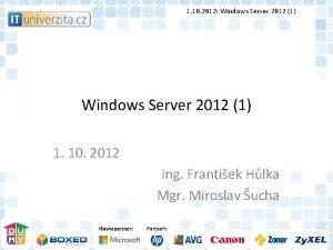 1 10 2012 Windows Server 2012 1 1