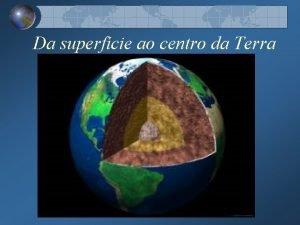 Da superfcie ao centro da Terra Camadas da