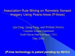Association Rule Mining on Remotely Sensed Imagery Using