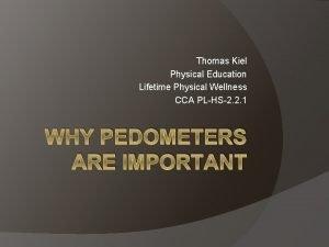 Thomas Kiel Physical Education Lifetime Physical Wellness CCA