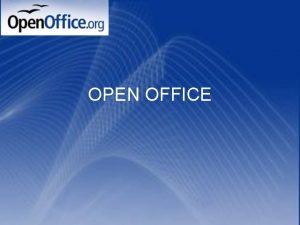 OPEN OFFICE ODPRTA KODA Brezplana programska oprema Lahko