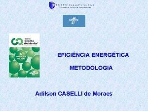 EFICINCIA ENERGTICA METODOLOGIA Adilson CASELLI de Moraes 1