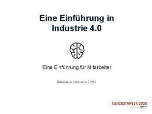 Eine Einfhrung in Industrie 4 0 Eine Einfhrung