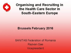Organising and Recruiting in the Health Care Sector