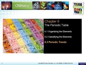 6 3 Periodic Trends Chapter 6 The Periodic