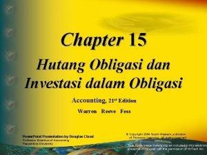 Chapter 15 Hutang Obligasi dan Investasi dalam Obligasi