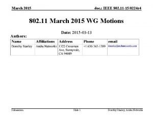 March 2015 doc IEEE 802 11 150224 r