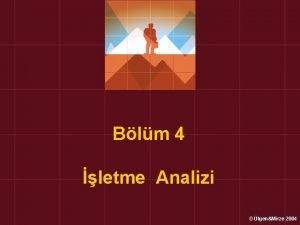 Blm 4 letme Analizi lgenMirze 2004 letme Analizi