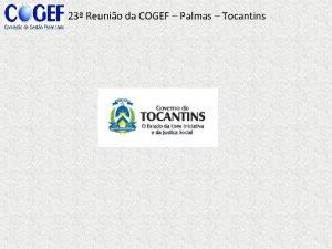 23 Reunio da COGEF Palmas Tocantins 23 Reunio