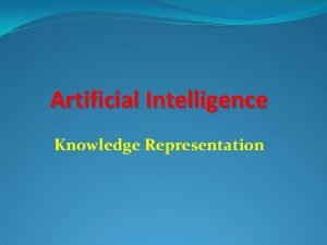 Artificial Intelligence Knowledge Representation Knowledge Representation Topics 1