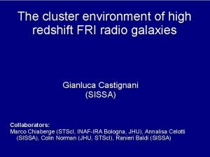 The cluster environment of high redshift FRI radio