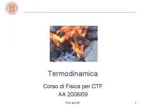 Termodinamica Corso di Fisica per CTF AA 200809