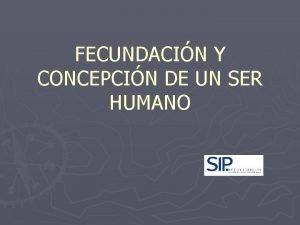 FECUNDACIN Y CONCEPCIN DE UN SER HUMANO As