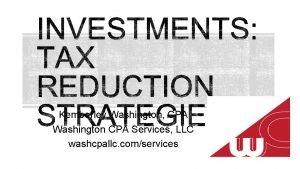 Kemberley Washington CPA Washington CPA Services LLC washcpallc
