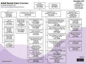 November 2011 Adult Social Care Overview Director Adult