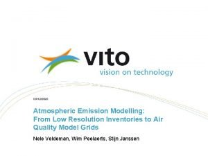 03122020 Atmospheric Emission Modelling From Low Resolution Inventories