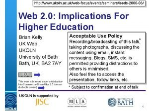 http www ukoln ac ukwebfocuseventsseminarsleeds2006 03 Web 2