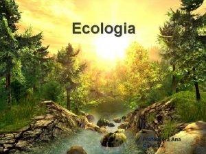 Ecologia Professora Ana Carolina Conceitos em Ecologia cincia