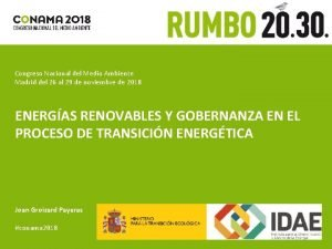 Congreso Nacional del Medio Ambiente Madrid del 26