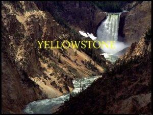 YELLOWSTONE UVOD Geografska lega Zgodovina Vulkan Gejzirji Podnebje