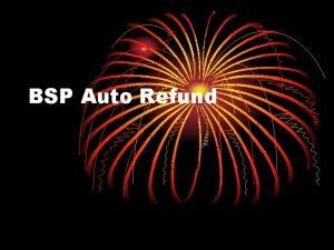 BSP Auto Refund Amadeus BSP Auto Refund General