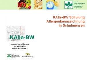 Sektion BadenWrttemberg der Deutschen Gesellschaft fr Ernhrung e
