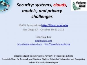 Security systems clouds models and privacy challenges i